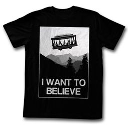Mr. Mister Rogers Shirt I Want To Believe Black T-Shirt