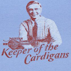 Mr. Mister Rogers Shirt Keeper Adult Light Blue Tee T-shirt
