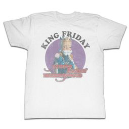Mr. Mister Rogers Shirt King Friday White T-Shirt