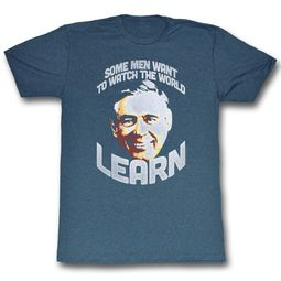Mr. Mister Rogers Shirt Learn Blue Heather T-Shirt
