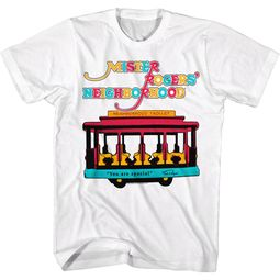 Mr. Mister Rogers Shirt Neighborhood Trolley White T-Shirt