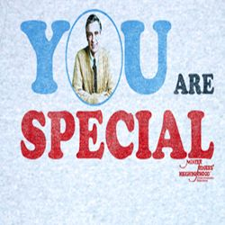 Mr. Mister Rogers Shirt Special You Adult Blue Heather Tee T-shirt
