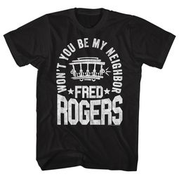Mr. Mister Rogers Shirt Won't You Be My Neighbor Black T-Shirt