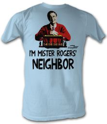 Mr. Mister Rogers T-shirt Mister Rogers Neighbor Adult Light Blue Tee