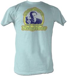 Mr. Mister Rogers T-shirt My Neighbor Adult Blue Tee Shirt
