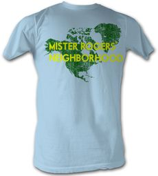Mr. Mister Rogers T-shirt North America Adult Light Blue Tee Shirt