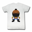 Mr. T Shirt Bubble T Adult White Tee T-Shirt
