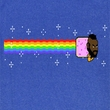 Mr. T Shirt Nyan Nyan Nyan Adult Royal Tee T-Shirt