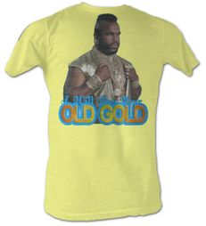 Mr. T T-Shirt Old Gold A-Team Adult Bright Yellow Tee Shirt