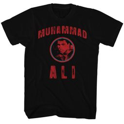 Muhammad Ali Shirt Ali Circle Logo Adult Black Tee T-Shirt