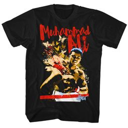 Muhammad Ali Shirt Butterfly Bee Black T-Shirt