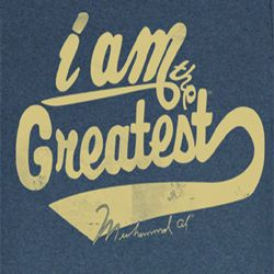 Muhammad Ali Shirt Greatest Adult Blue Heather Tee T-Shirt
