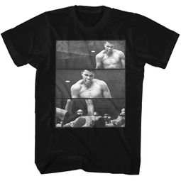 Muhammad Ali Shirt Over Liston 3 Box Black T-Shirt