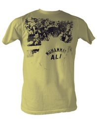 Muhammad Ali T-shirt Adult Ringside Lemon Tee Shirt
