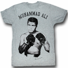 Muhammad Ali T-shirt Ali! Nough Said Adult Heather Grey Tee Shirt