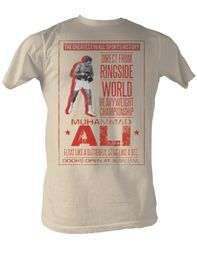 Muhammad Ali T-shirt Ali Poster Dirty White Tee Shirt
