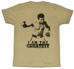 Muhammad Ali T-shirt I Am The Greatest Adult Grey Tee Shirt