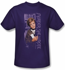Murder She Wrote Shirt Around The Corner Adult Purple Tee T-Shirt