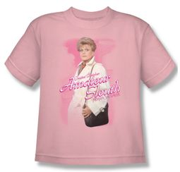 Murder She Wrote Shirt Kids Amateur Sleuth Pink Youth Tee T-Shirt