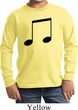 Music 8th Note Kids Long Sleeve Shirt