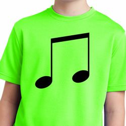 Music 8th Note Kids Moisture Wicking Shirt