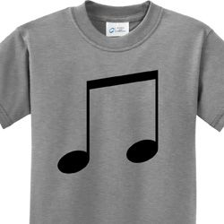 Music 8th Note Kids Shirt