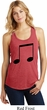 Music 8th Note Ladies Racerback Tank Top
