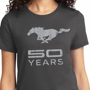 Mustang 50 Years Ladies Ford Mustang Shirts