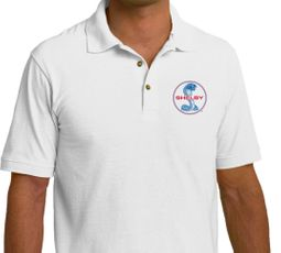 Ford Mustang Shelby Blue & Red Cobra Polo Shirt - White