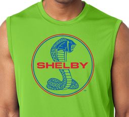 Ford Mustang Red & Blue Shelby Cobra Muscle Shirt - Lime Green