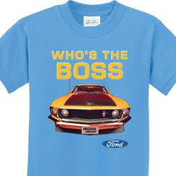 Mustang Who's The Boss Kids Ford Shirts