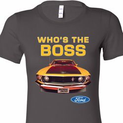 Mustang Who's The Boss Ladies Ford Shirts