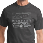 Mustang with Grill Mens Ford Shirts