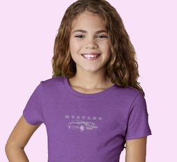 Mustang with Grill Middle Print Kids Ford Shirts