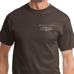 Mustang with Grill Pocket Print Mens Ford Shirts
