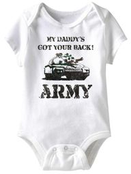 My Daddy's Got Your Back! Funny Baby Romper White Infant Babies Creeper