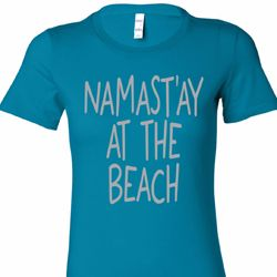 Namast'ay at the Beach Ladies Yoga Shirts