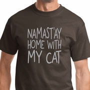 Namast'ay Home With My Cat Mens Yoga Shirts