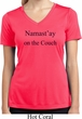 Namastay Home on the Couch Ladies Moisture Wicking V-neck Shirt