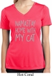 Namastay Home with My Cat Ladies Moisture Wicking V-neck Shirt