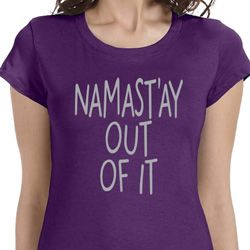 Namastay Out Of It Ladie Yoga Shirts