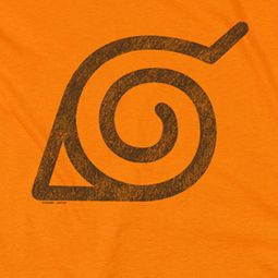 Naruto Shippuden Distressed Leaves Symbol Orange Shirts