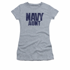 Navy Shirt Juniors Navy Aunt Athletic Heather T-Shirt