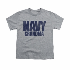 Navy Shirt Kids Navy Grandma Athletic Heather T-Shirt