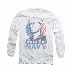 Navy Shirt Navy Join The Navy Long Sleeve White Tee T-Shirt