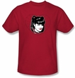 NCIS Adult T-shirt - Abby Heart TV Series Adult Red Tee Shirt