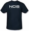 NCIS Adult T-shirt - Logo TV Series Adult Navy Blue Tee Shirt