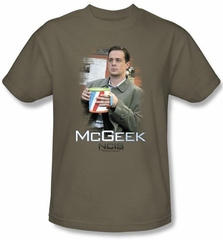 NCIS Adult T-shirt - McGeek Adult Safari Green Tee Shirt