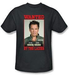 NCIS Adult T-shirt - Wanted Anthony DiNozzo Adult Charcoal Tee Shirt