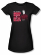 NCIS Juniors T-shirt - No Bluffing Crime Drama Black Tee Shirt